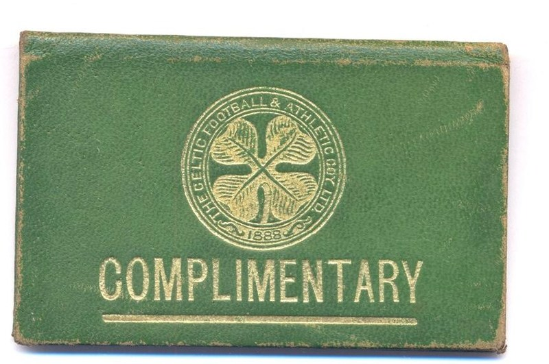 Green 1935-36 Season Ticket with the Four Leaf Clover