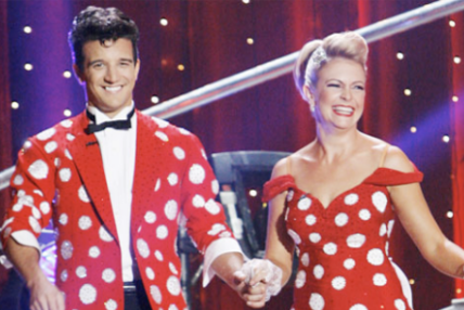 Melissa Joan Hart & Mark Ballas: Polka Dottiest Costume