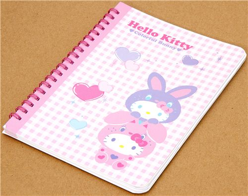 Hello Kitty as rabbit ring binder notebook kawaii Japan 1