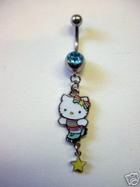 Hello Kitty Belly Rings - I Heart Hello Kitty