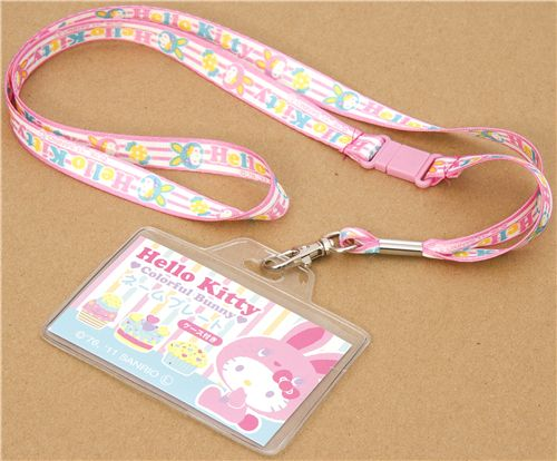 cute Hello Kitty lanyard bunny cupcake 1