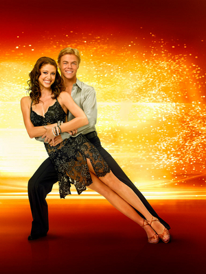 Shannon Elizabeth and Derek Hough