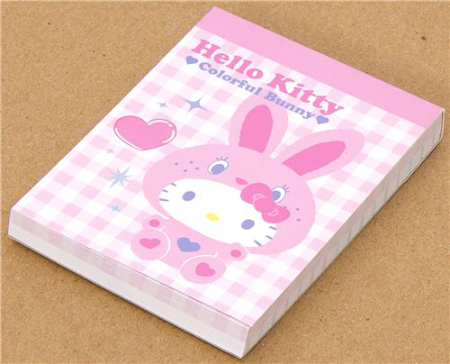 cute mini Memo Pad with Hello Kitty as Rabbit kawaii 1