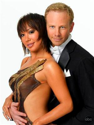 Ian Ziering and Cheryl Burke