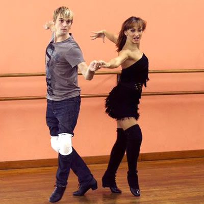 Aaron Carter and Karina Smirnoff