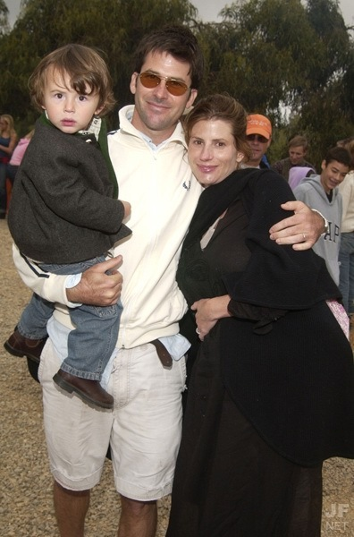 Joe Flanigan with Wife and Child