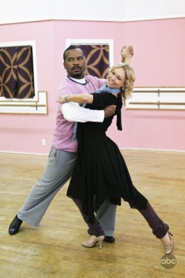David Alan Grier and Kym Johnson in rehearsal