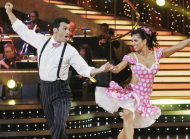 Melissa Rycroft & Dmitry Chaplin: Polka Dottiest Costume