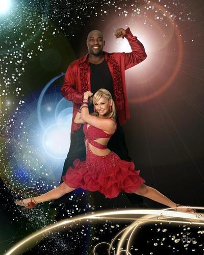 Warren Sapp and Kym Johnson