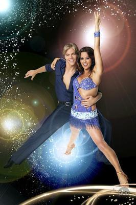 Brooke Burke and Derek Hough