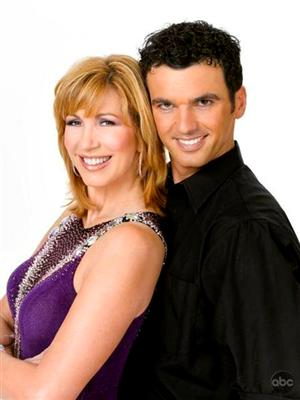 Leeza Gibbons and Tony Dovolani